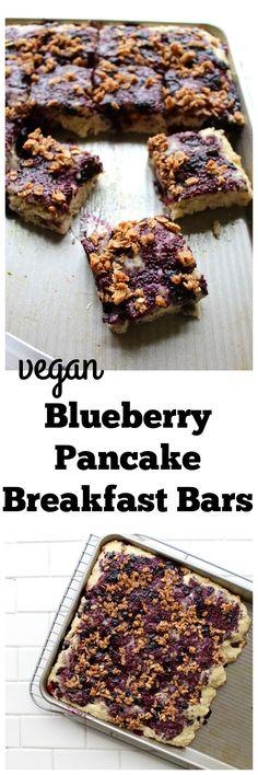 Blueberry Pancake Breakfast Bars