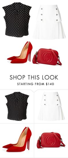 """""""Untitled #279"""" by jovanaaxx on Polyvore featuring Dolce&Gabbana, Alexander McQueen, Christian Louboutin and Gucci"""