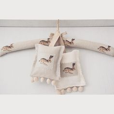 bunnycottage.quenalbertini: Hare Lavender Scented Pillows and Hanger | Sophie Allport
