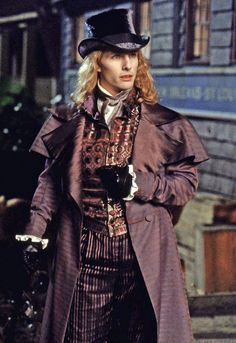 Lestat played by Tom Cruise in Interview with the vampire. I much of a Tom fan, but I like his clothes