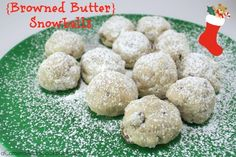 Lysha @ a Camera & a Cookbook shares 12 delightful Christmas treat recipes for this holiday season.  Today she is sharing Snowballs made with browned butter! Browned butter makes everything better!