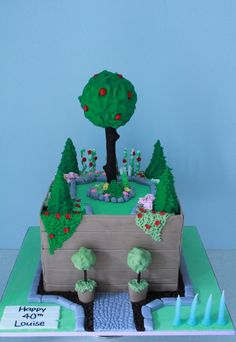 English Garden Birthday Cake