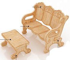 muebles para muñecas de fibrofacil - Buscar con Google