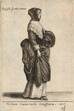 Wenceslas Hollar - Mulier Generosa Anglica