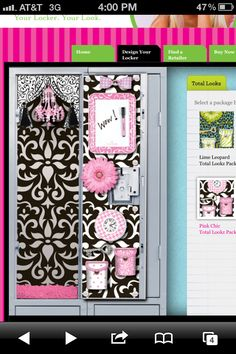 Makes me want a locker! How cool is this call wallpaper, have carpet, chandelier , mirror and more with Locker Lookz. Had to get few things for Nathalie and Olivia. :)
