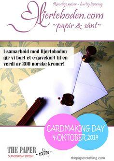 CARDMAKING DAY 4. OKTOBER: VI GIR BORT GAVEKORT! | Cardmaking, Scandinavian, Girly, Paper Crafts, Scrapbook, Magazine, Day, Girly Girl, Scrapbooking