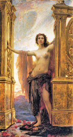 The Gates of Dawn (1900), oil painting by Herbert James Draper (1863-1920)