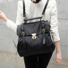 Black Leather Rucksack... where have you been all my life?