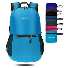 ZOMAKE Ultra Lightweight Packable Backpack Water Resistant Hiking Daypack,Small Backpack Handy Foldable Camping Outdoor Backpack Little Bag (Light Blue). For product & price info go to:  https://all4hiking.com/products/zomake-ultra-lightweight-packable-backpack-water-resistant-hiking-daypacksmall-backpack-handy-foldable-camping-outdoor-backpack-little-bag-light-blue/