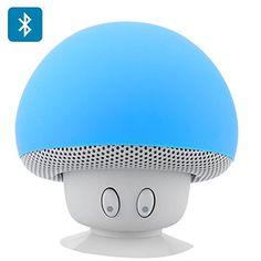 Seta azul Altavoz Bluetooth - Splash Proof, ventosa, 280mAh Batería Recargable, 3W de salida, 10 Meter Rango. Sólo el envío más rápido expedita Mushroom http://www.amazon.es/dp/B00SKRMCUQ/ref=cm_sw_r_pi_dp_L1unvb1BDVEJB