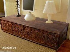 153x63 Cm Antik Look Orient Massiv Couchtisch Wohnzimmer Tisch Truhe Nuristan 8