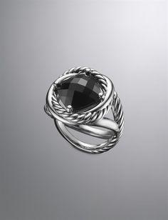 David Yurman | Women | Rings: Infinity Ring, Black Onyx