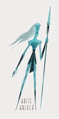 Game of Thrones - A Song of Ice and Fire White Walker Game Of Trone, Tim Burton Style, Game Of Thrones Art, We Will Rock You, Queen Band, Character Design Animation, Winter Is Here, Valar Morghulis, Fan Art