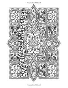 Inspirational Swear Word Coloring Book For Adults