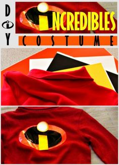 Disney Costumes How I did a DIY Disney Incredibles Costume on the cheap for my son's Halloween costume. - How I did a DIY Disney Incredibles Costume on the cheap for my son's Halloween costume. Incredibles Costume Diy, Disney Incredibles, Diy Halloween Costumes For Kids, Halloween Crafts, Halloween Ideas, Superhero Halloween, Halloween 2016, Couple Halloween, Disney Halloween