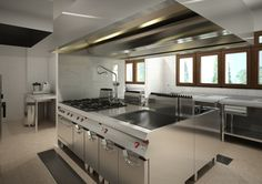 Commercial Kitchen where Promise Farm Organic foods are made and tasted also food for campers food for guests Kitchen Pantry, Kitchen Layout, Kitchen Items, Commercial Kitchen Design, Commercial Appliances, Restaurant Kitchen, Restaurant Design, Hotel Kitchen, Warehouse Kitchen