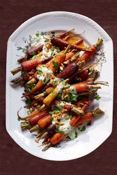 Orange Carrots with Yogurt-Parsley Dressing  - CountryLiving.com