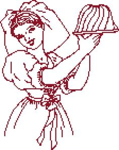 kouglof grille pt Alsace, Embroidery Patterns, Cross Stitch Patterns, Cross Stitch Kitchen, Le Point, Chrochet, Betty Boop, Monochrome, Needlework