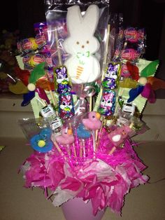 Easter Candy Ideas | Easter candy bouquet