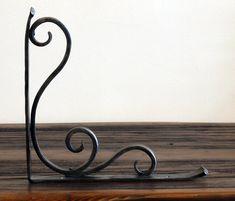 Pair of Hand Forged Shelf Brackets. Scroll Design.. $75.00, via Etsy.