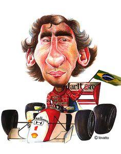 Ayrton Senna by Lovatto