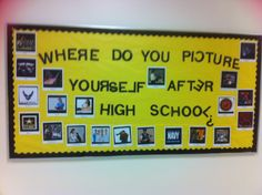 High school career bulletin board designed by high school students- Where do you picture yourself after high school?