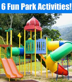 The ideas are things to do at the park but not things to do on the playground as much.  Some things take planning and such ahead of time.  Parks will never loose their luster with these fun activities! Perfect for summer babysitting too ;)