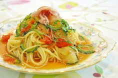 "spaghetti using bitter melons called ""GOYA"" in Japan ,grapefruit and etc."