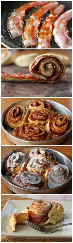 Allrecipecenter: Crazy Bacon Cinnamon Rolls
