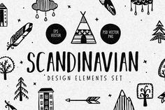 Scandinavian Design Elements Set by Chelovector on @creativemarket