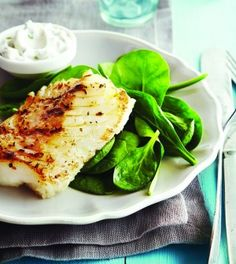 Greek Style Fish with tzatziki