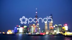 blur lights of Shanghai Pudong night scene - Stock Footage | by YPPictures