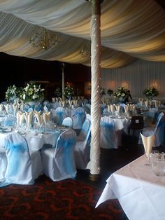 ivory pleat marquee ceiling available to venues