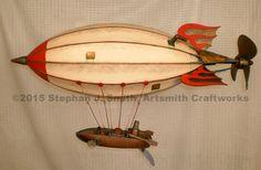 Photo of Hotrod steampunk airship sculpture