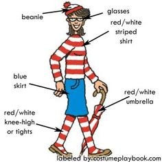 Where's Wally (Waldo) Costumes | Costume Playbook - Cosplay & Halloween ideas
