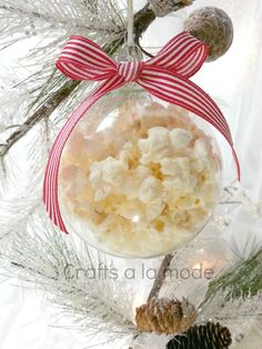 A Magical Christmas Ornament - This ornament will entertain and amaze your friends, kids, parents, etc. How did the popcorn get it o the glass…