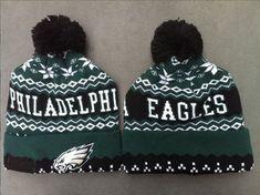 c15d0bdf05df03 Philadelphia Eagles Winter Outdoor Sports Warm Knit Beanie Hat Pom Pom Nfl  Sports, Sports Caps
