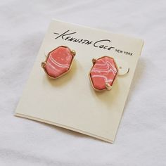 Coral Earrings Adorable earrings that go with many summer outfits. Never worn! Bought on a whim but decided they're not my style. Kenneth Cole Jewelry Earrings