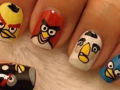 Uñas estilo Angry Birds ¿Quién me hace unas así?
