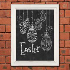 Chalkboard Wall Print Chalkboard Easter by TimelessMemoryPrints, $20.00
