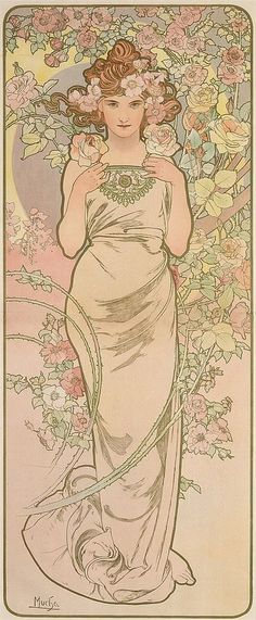 ALPHONSE MUCHA (1860-1939). [THE FLOWERS.] 1898. Each approximately 4... Lot 282