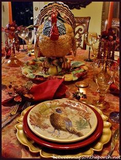 Autumn Tablescape / Thanksgiving Table / Fall Decor / Turkey Centerpiece from Pottery Barn .Autumn Tablescape / Thanksgiving Table / Fall Decor / Turkey Centerpiece from Pottery Barn . Vintage Thanksgiving, Thanksgiving Table Settings, Thanksgiving Centerpieces, Holiday Tables, Happy Thanksgiving, Thanksgiving Dinnerware, Thanksgiving Plates, Holiday Dinnerware, Thanksgiving Pictures