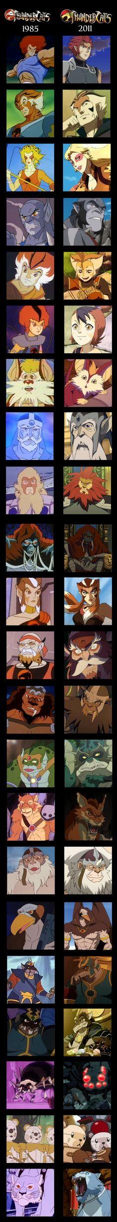 Thundercats 1985 and 2011 Comparison by Ilona-the-Sinister.deviantart.com on @deviantART #1980s #cartoons