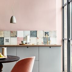 Monday Inspiration Beautiful Rooms - Mad About The House : little greene paint company light peach blossom and teal grey Bert and May Pink Paint Colors, Kitchen Paint Colors, Wall Colors, Wall Paint Inspiration, Monday Inspiration, Brighton, Little Greene Paint Company, Murs Roses, Royal Pavilion