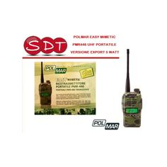 POLMAR EASY MIMETIC PMR446 UHF PORTATILE VERSIONE EXPORT 5 WATT - S.D.T. srl Unipersonale