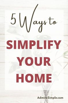 Want to simplify and organize your home but don't know where to start? Here are the tips on simplifying and decluttering your home that will help you embrace minimalist living. Minimalist Living Tips, Becoming Minimalist, Minimalist Kids, Minimal Living, Simple Living, Declutter Your Home, Organizing Your Home, Feeling Overwhelmed, Life Organization