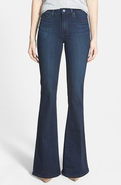 Paige Denim 'Canyon' High Rise Bell Bottom Jeans (Cameron) available at #Nordstrom