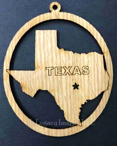 Are you looking for a custom gift? Check this out! legacyimages on Etsy: Texas Ornament State Ornament Christmas Ornament Gift for Traveler Laser Engraved Ornament (6.95 USD) #EtsyGifts #Handmade #PictureFrames