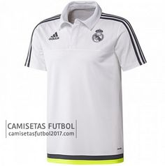 Polo de entrenamiento blanco Real Madrid 2015 2016  e769f36cc5541