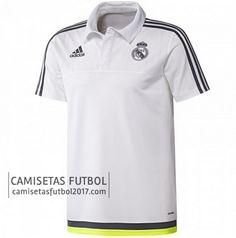 Polo de entrenamiento blanco Real Madrid 2015 2016   camisetas de futbol baratas